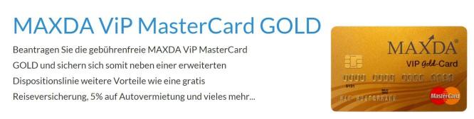 Maxda-Kreditkarte-Gold